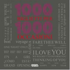 1000 BIGLIETTI PER 1000 OCCASIONI